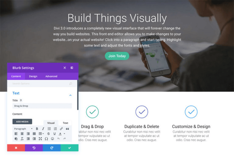 frontend visual builder